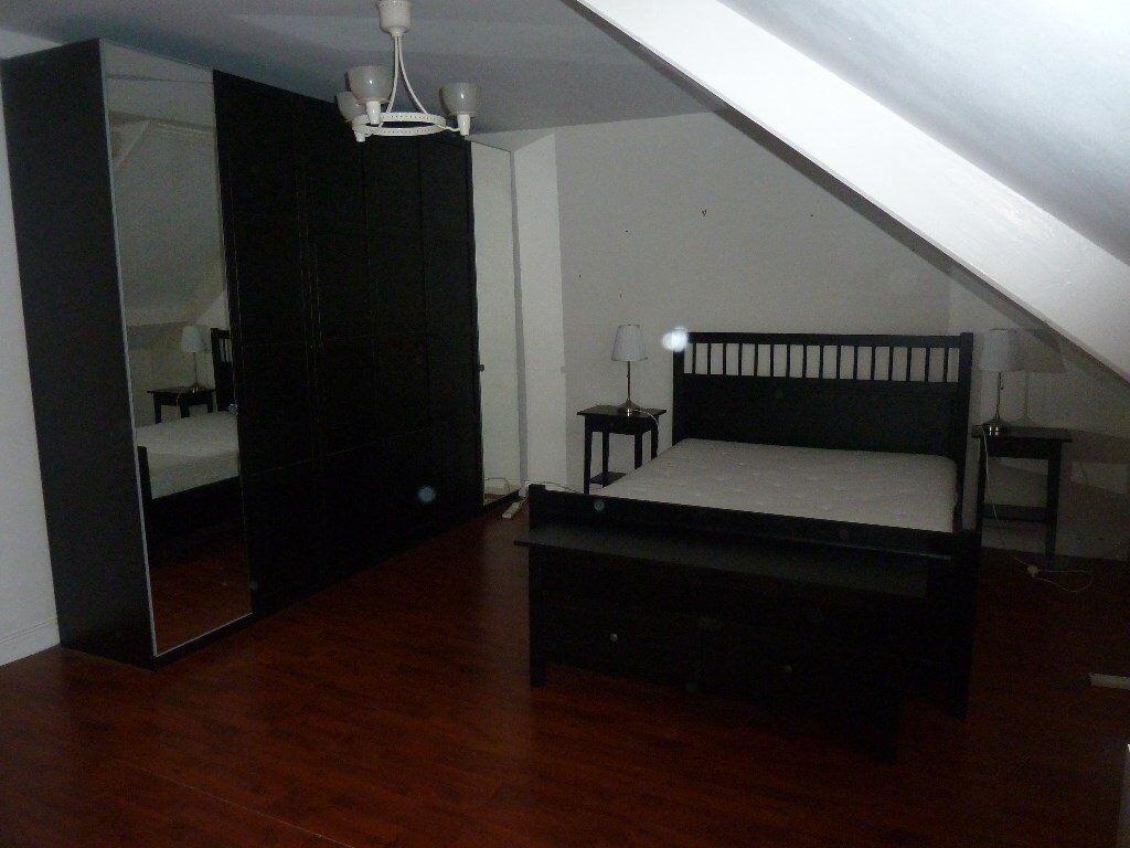 Ikea Hemnes bedroom furniture - bed frame / bedside table x 2 ...