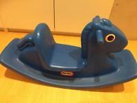 Little Tykes blue rocking horse