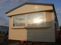 Insulated Double glazed and centrally heated 3 bedrooms static caravan available for monthly rentals