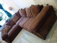 Large DFS corner sofa in Mocha, great condition