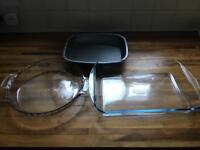 Unsorted oven dishes, Anchor hocking and Pyrex