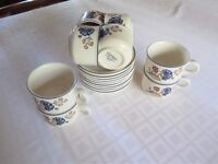 Set of 8 Boots Carmargue Cups and Saucers in good condition