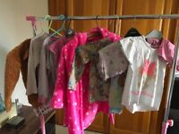 X7 pairs of Girls Pyjamas and dressing gown