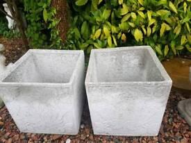 Concrete Garden Flower Pots