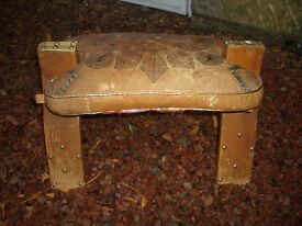 Vintage Leather Arabian Stool