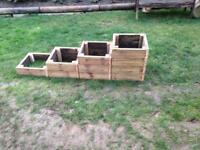 Reclaimed decking planters