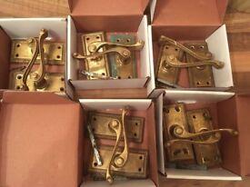 Brass door handles for internal doors x 7