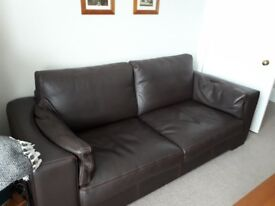 Brown Leather Sofa For Excellent Condition