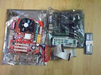 Two complete motherboards + cpu + mem + fan + extras