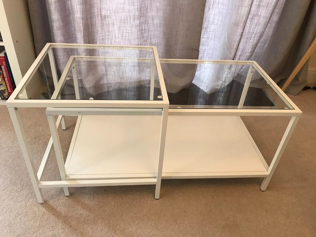 Ikea White Coffee Table Nest