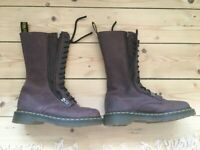Dr Martens Airwave boots - Purple leather, size UK 3