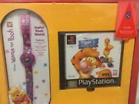 WINNIE THE POOH WATCH AND GAME NEW