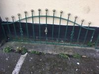 12 Ft Of Quality Galvanised Steel Wall Toppers / Railings /Fencing - Can Deliver