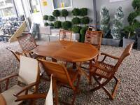 Teak wooden garden furniture tables and chair sets great quality