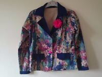 Jacket/ blazer in blue and pink shades for 9-11 yr old girl.