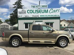 2015 Dodge Ram 1500 LONGHORN ,ECO DIESEL, 4X4, LOADED, 42KM