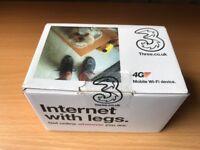 Three mobile internet with legs. Huawei E5573 white