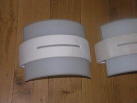 2 Micromark liberty Wall Uplighters White Ceramic Weymouth