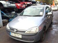 2003 Vauxhall Corsa 1.2 16v elegance 3dr z 163 4au silver lightning BREAKING FOR SPARES