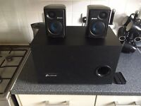 Corsair SP2500 Gaming Speakers Audio System 2.1 with Sub Woofer 232W