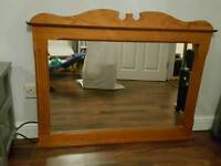 big size mirror with high quality wood frame