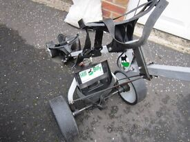 HILLBILLY ELECTRIC GOLF TROLLEY inluding battery /charger , in good working,18 holes no bother,