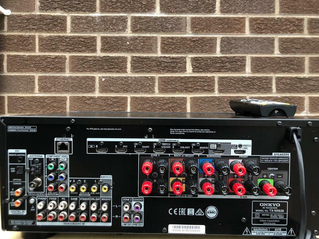 Onkyo TX-NR636 Dolby Atmos 4k Network 7 1 channel AV Receiver | in Lisburn,  County Antrim | Gumtree