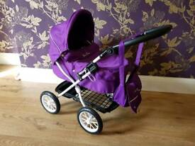 Official Silver Cross Purple Play Pram