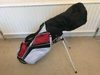 Golf Club Bag, balls and clubs