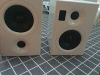 Speakers in white