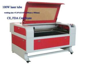 100W 1200mm * 900mm CO2 USB Laser Engraving Cutter Machine with Stand 130069