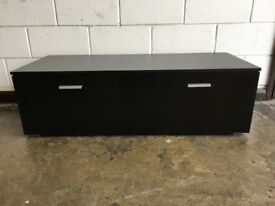 TV cabinet in Black Gloss / Black matt - EX display NEW condition