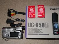 Canon UC-X50 Hi8 analogue Camcorder in very good condition.
