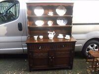 Superb Vintage Oak Jaycee Of Brighton Plate Rack Sideboard Dresser