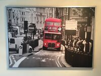 Large London bus wall picture