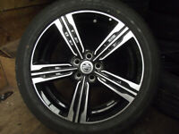 MGZS SUV 7 x 17 ALLOY WHEELS AND TYRES EXCEPTIONAL CONDITION WILL SPLIT FOR SPARES