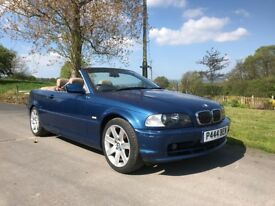 BMW 320 Convertible, 11 months MOT, new brakes and tyres.