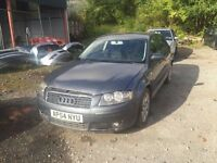 AUDI A3 2.0 TDI 2005 BREAKING FOR PARTS