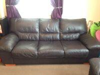 2&3 seater leather sofa
