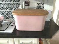 Pink Nigella Lawson bread bin