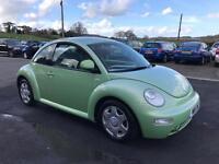Volkswagen Beetle 2.0 AUTOMATIC 3 DOOR HATCHBACK (green) 2000