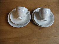 tea cup, saucer, side plate (also sugar, cream and serving plate available)