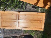 4 panel solid pine door