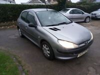 2002 Peugeot 206 1.1 petrol, 5 door. New MOT, 84k miles. Drives well. Bargain, £375 ono. PX Welcome