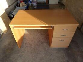 John Lewis Computer Desk - Beech - Excellent Condition - £25 - No Offers