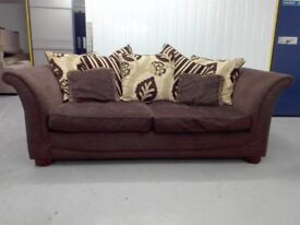 DFS 3 seater sofa settee chocolate brown color in very good condition / free delivery