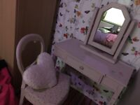 Pink dressing table set shabby chic