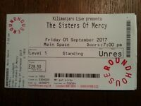 Sisters of Mercy ticket 1st Sept London Roundhouse