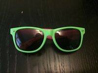 £3 Sunglasses - Green Frames with Pink Sides