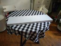 White gloss floating shelf (2 available)